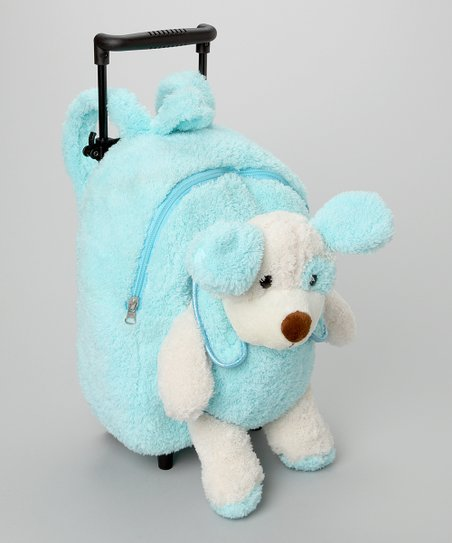 Blue Dog Rolling Backpack