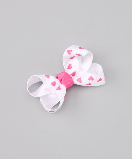 Candy Pink &amp; White Clip