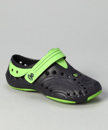 Navy & Lime Green Premium Spirit Shoe - Girls