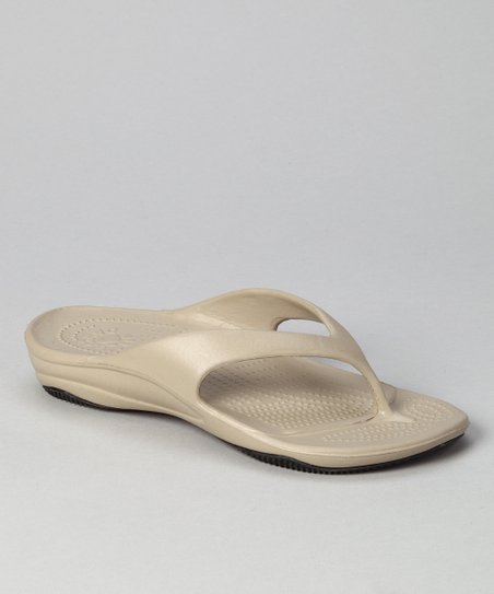 Tan & Black Flip-Flop - Women