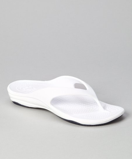 White & Navy Flip- Flop - Women