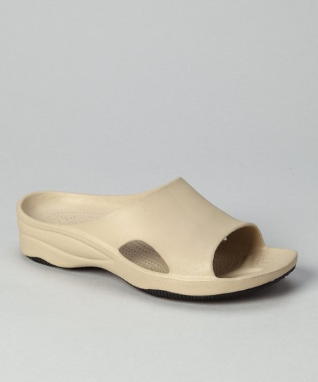 Tan & Black Slide - Women