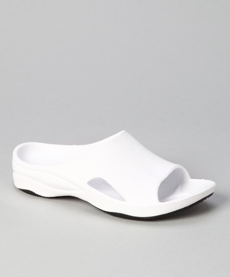 White & Black Slide - Women