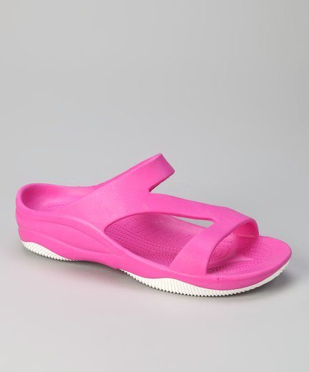 Hot Pink & White Z Sandal - Women