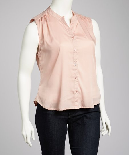 Pink Sleeveless Top - Plus