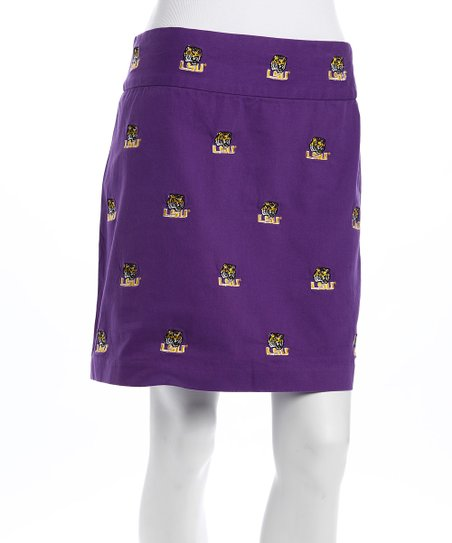 Purple Louisiana State Stadium Skirt - Women