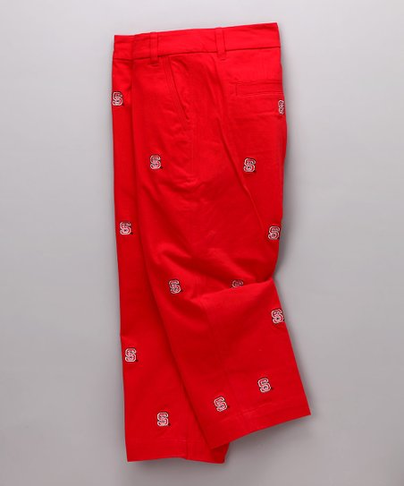 Red North Carolina State Capri Pants - Women