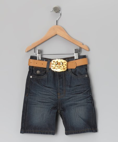 Blue Fade Denim Shorts - Infant