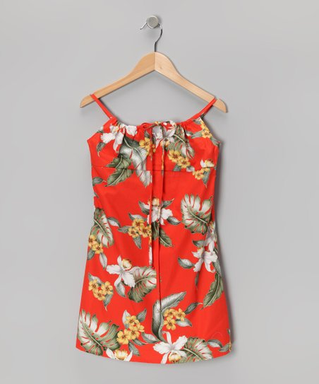 Rust Vintage Paradise Dress - Girls