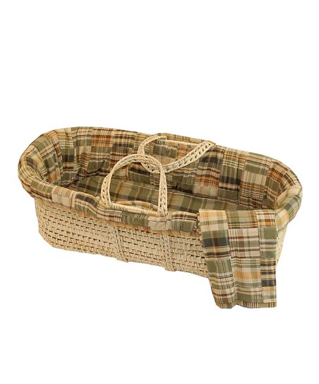 Sage Plaid Patchwork Basket Set