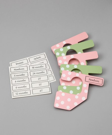 Pink & Green Closet Polka Dot Closet Divider Set - Infant & Toddler