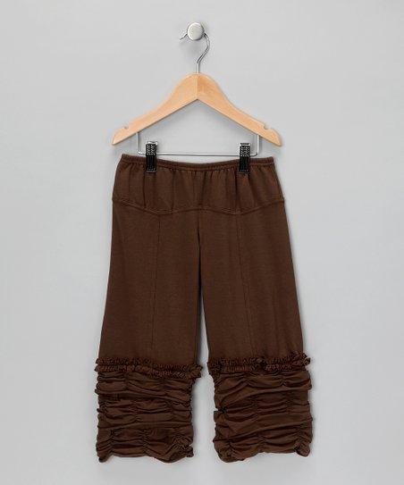 Brown Ruffle Pants – Girls
