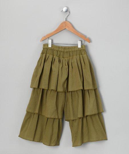 Light Green Triple-Tier Pants – Toddler & Girls