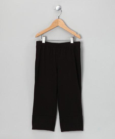 Black Cutout Yoga Pants – Toddler & Kids