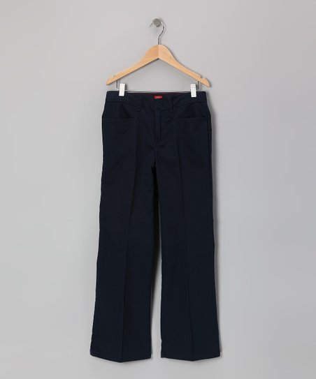 Dark Navy Flare Pants - Girls