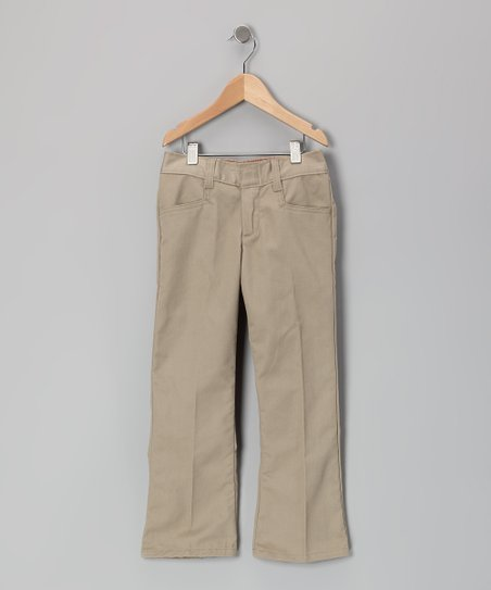 Khaki Flare Pants - Girls