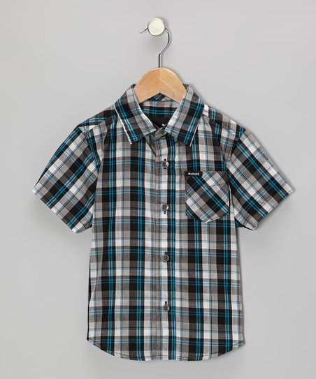 Black Acoustic Woven Button-Up - Toddler