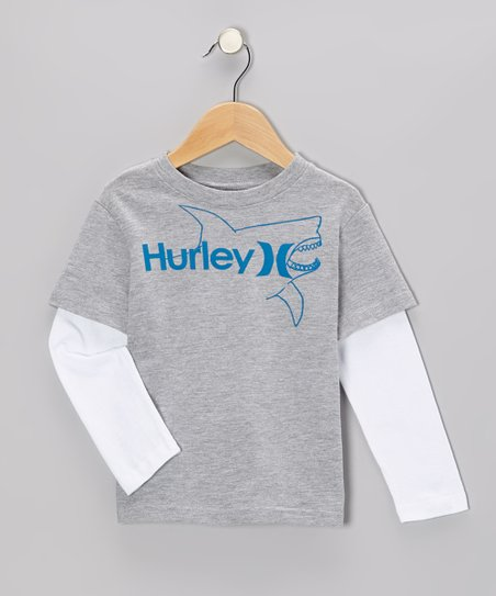 Gray Heather Killer Fish Layered Tee - Toddler