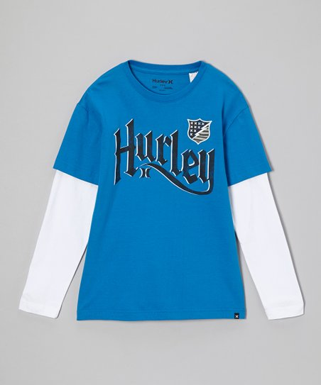 Blue Layered Tee - Boys