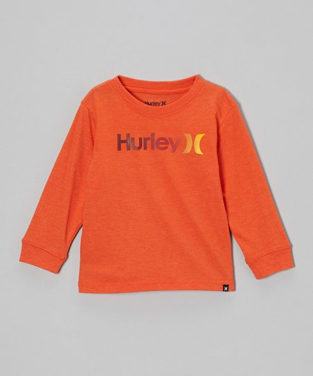 Blaze Orange Long-Sleeve Tee - Toddler