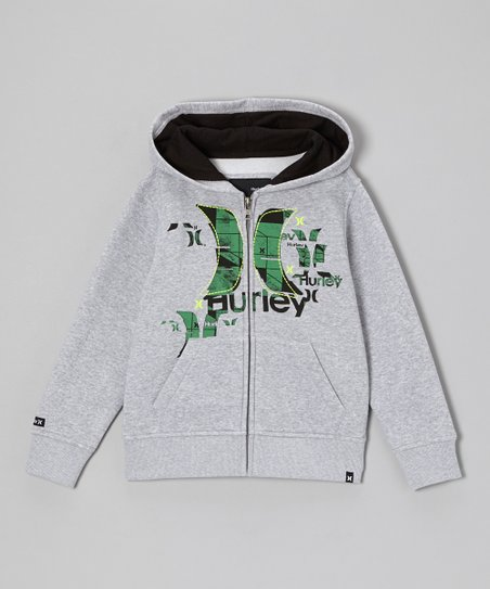Heather Zip-Up Hoodie - Boys