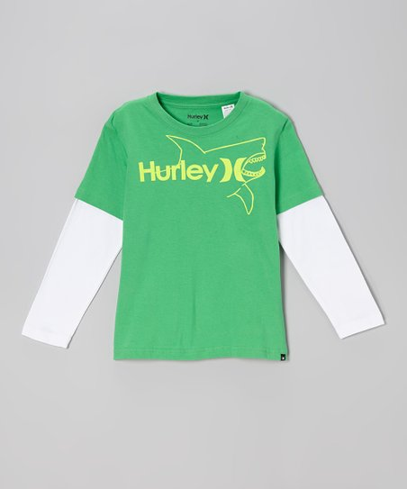 Electric Green Killer Fish Layered Tee - Toddler & Boys