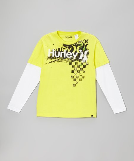 Citrus Yellow Tracks Layered Tee - Boys