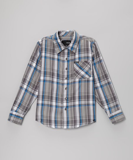 Cinder Plaid Button-Up - Boys