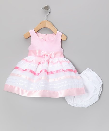 Pink Ribbon Dress &amp; Diaper Cover - Infant