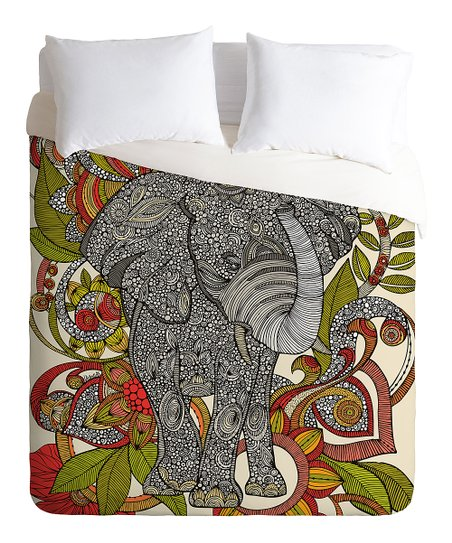 Bo the Elephant Duvet Cover