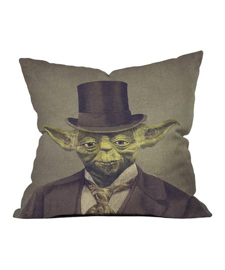 Yoda Throw Pillow