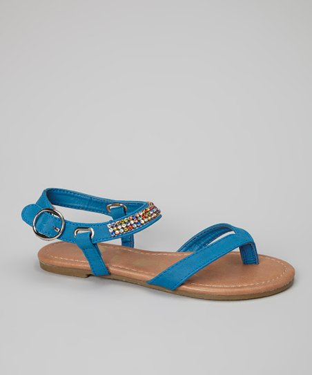 Blue Gemstone Calie Sandal