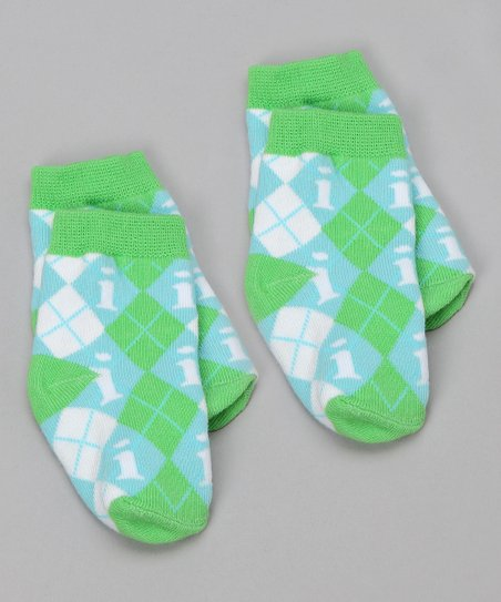 Blue & Green 'I' Socks Set