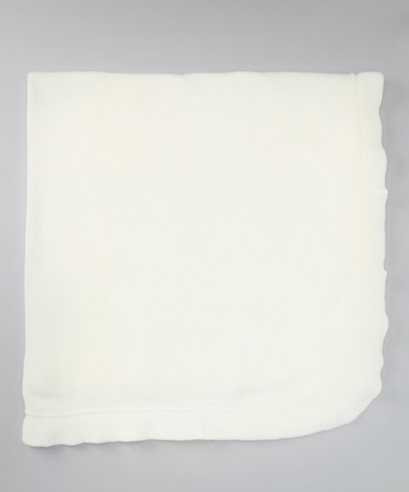 Ivory Ruffled Blanket