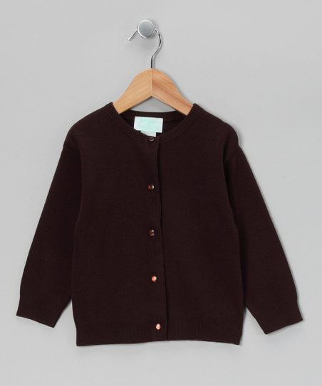 Brown Classic Cardigan - Infant, Toddler & Girls