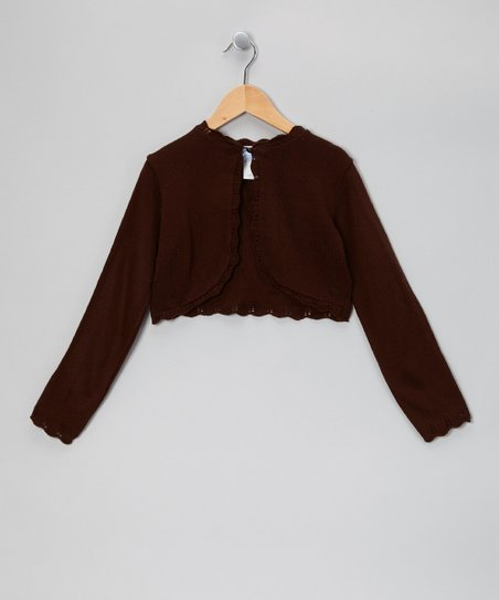 Brown Crocheted Bolero - Infant, Toddler & Girls