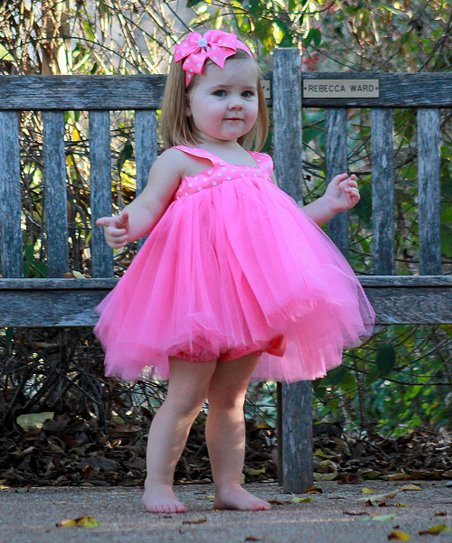 Hot Pink Polka Dot Tutu Dress Set - Toddler & Girls