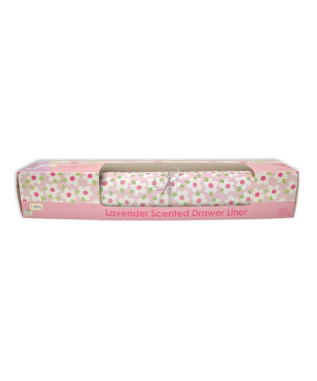 Pink Floral Lavender Drawer Liner - Set of Six