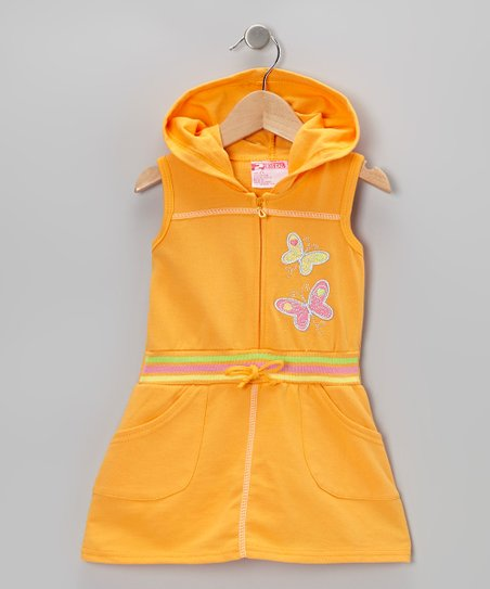 Orange Butterfly Romper - Toddler & Girls