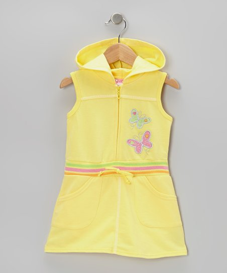 Yellow Butterfly Romper - Infant, Toddler & Girls