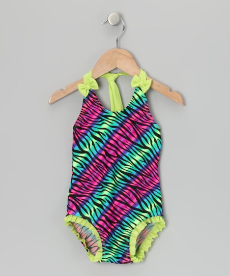 Green Zebra One-Piece - Infant