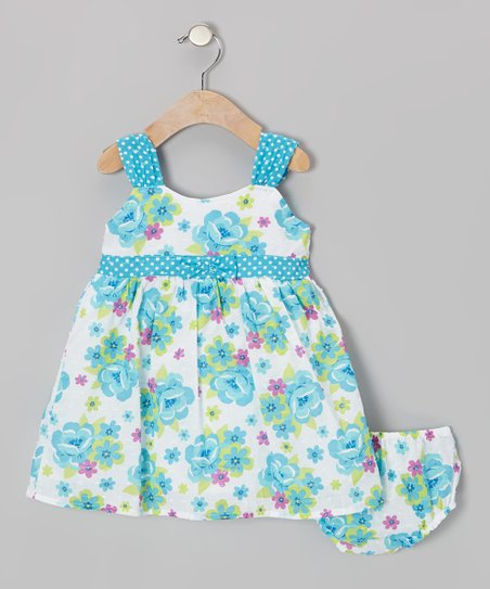 Blue & White Floral Dress – Infant & Girls
