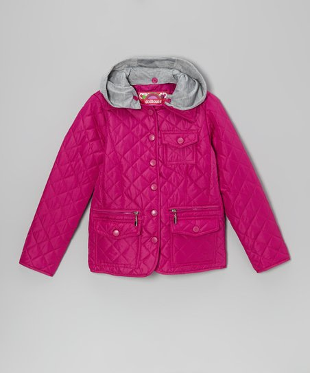 Pink Pop Quilted Jacket - Toddler & Girls