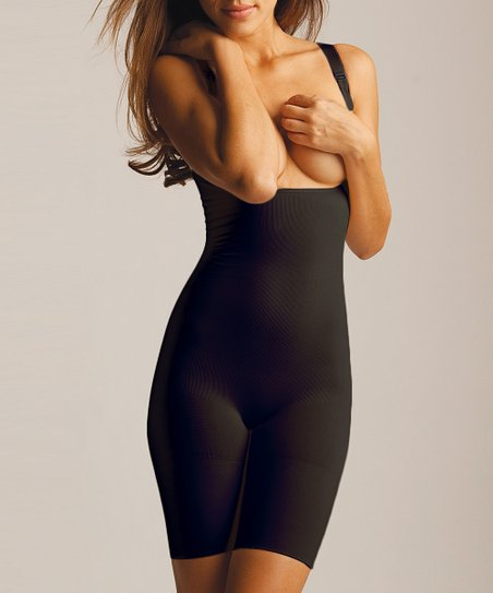 Black Braless Shaper Bodysuit - Women