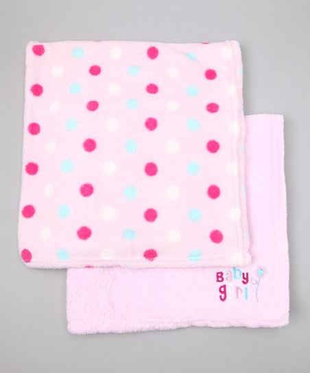 Pink 'Baby Girl' Stroller Blanket Set