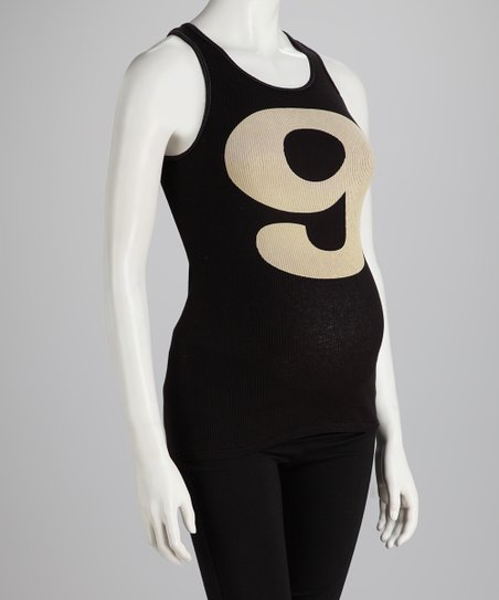 Black Nine Months Maternity Tank