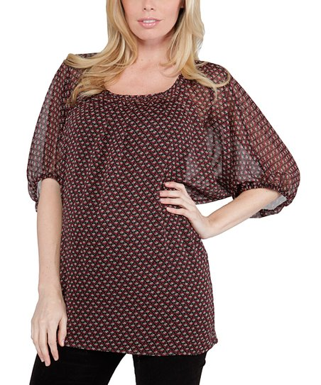 Brown Cordelia Maternity Top