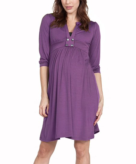 Plum Emory Maternity Dress