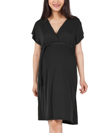Black Julie Maternity Dress