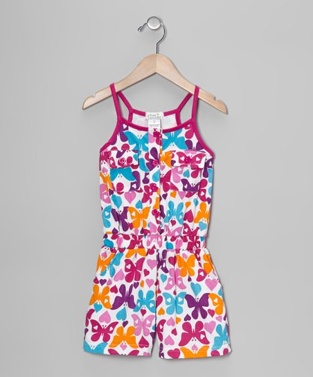 Fuchsia Butterfly Romper - Toddler & Girls